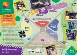 Event map of TAKEPART festival