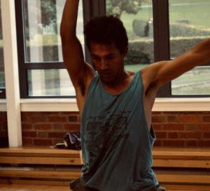Keil Morris dancing in the studio.