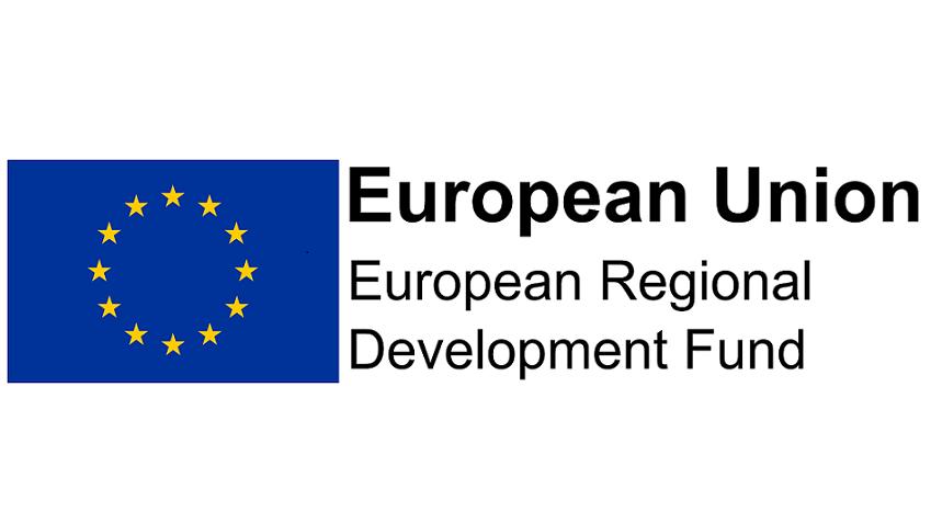 European Union logo and Text Reads: European Union, European Development Regional Fund